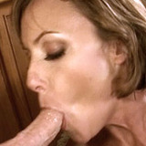 Sexy young wife loves guzzling stiff cocks
